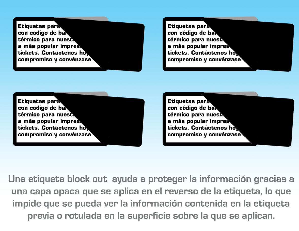 Etiquetado block out