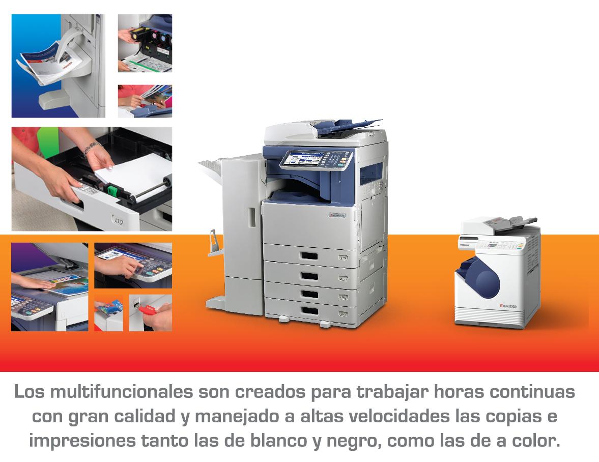 Multifuncionales y fotocopiadoras