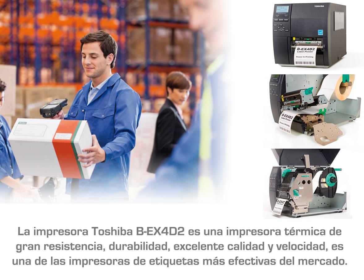 Impresoras de etiquetas industriales Toshiba B-EX4D2