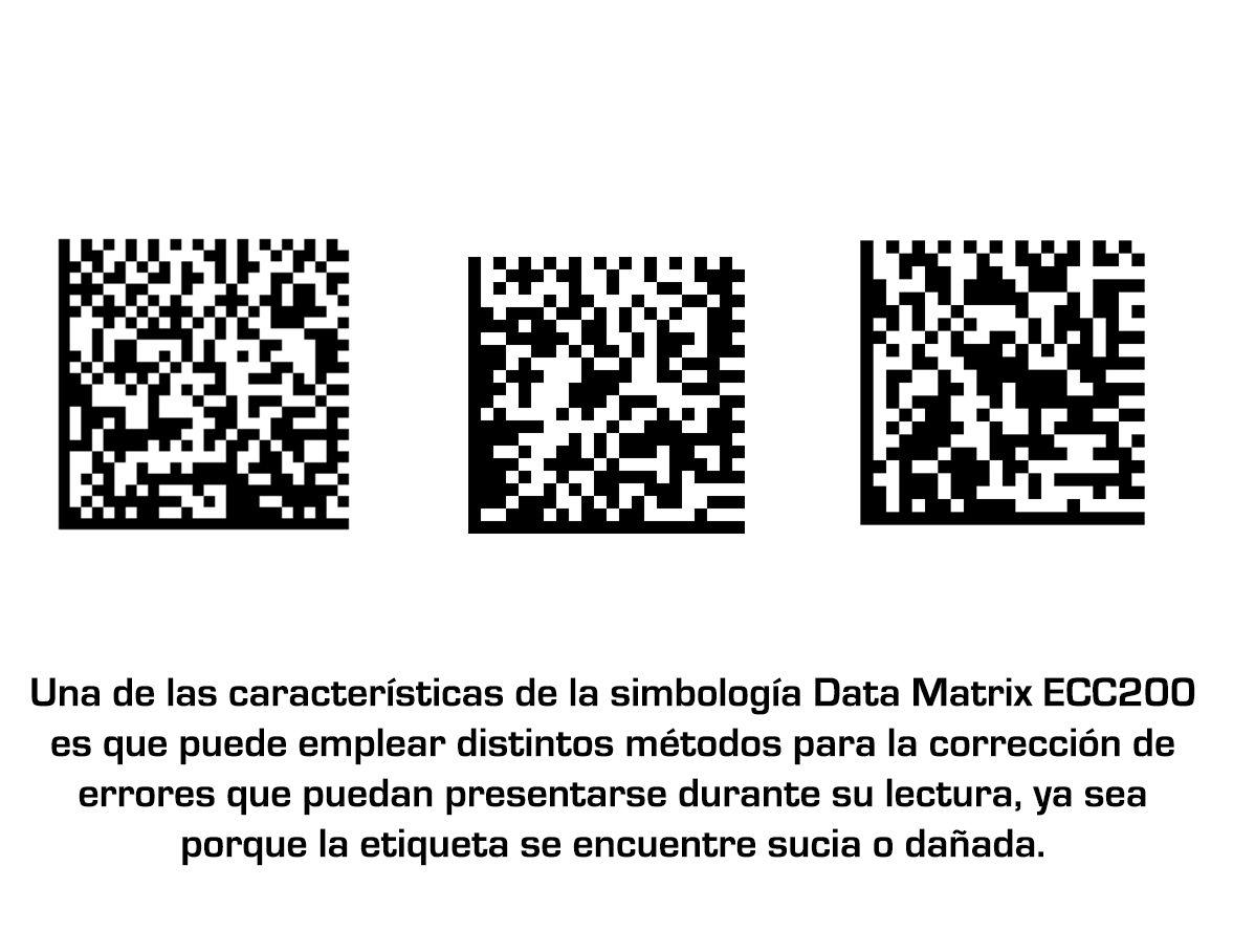 Características y aplicaciones de la simbología de código de barras Data Matrix ECC200