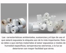 Recomendaciones para la elección del papel para etiquetas